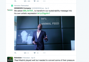 Screen Shot Twitter Post Heineken